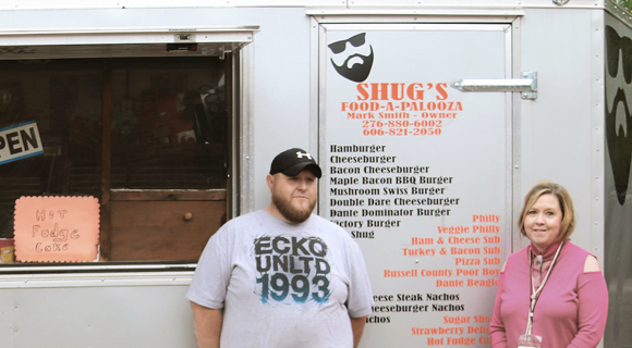 Dante native Mark Smith is the owner of the food truck Shug's Food-a-palooza