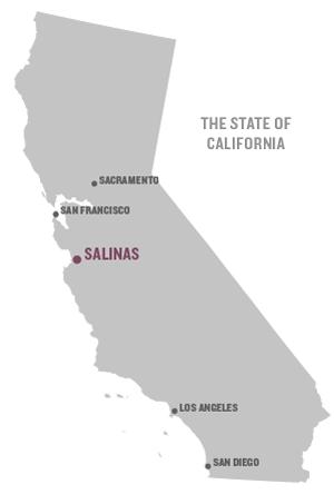 Map of Salinas, California