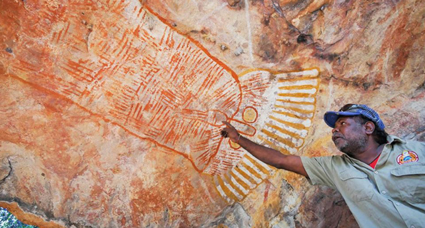 Protecting cultural sites is important work for Uunguu Ranger Jeremy Kowan.
