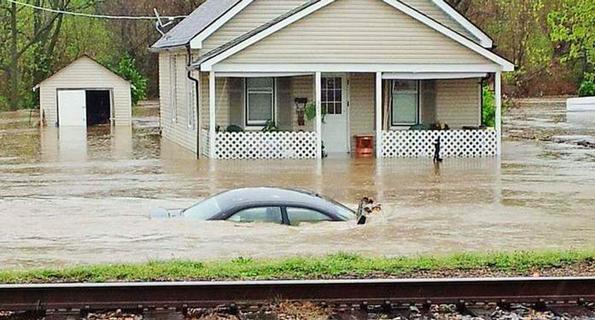 flooding in De Soto, Missouri