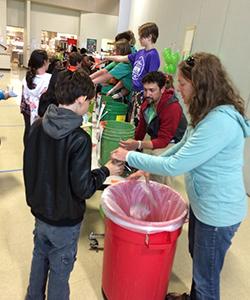 food waste audit at Owl Creek School