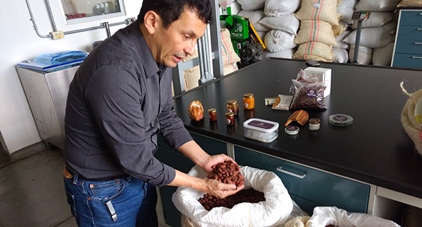 products made from cacao agricultural waste in Colombia