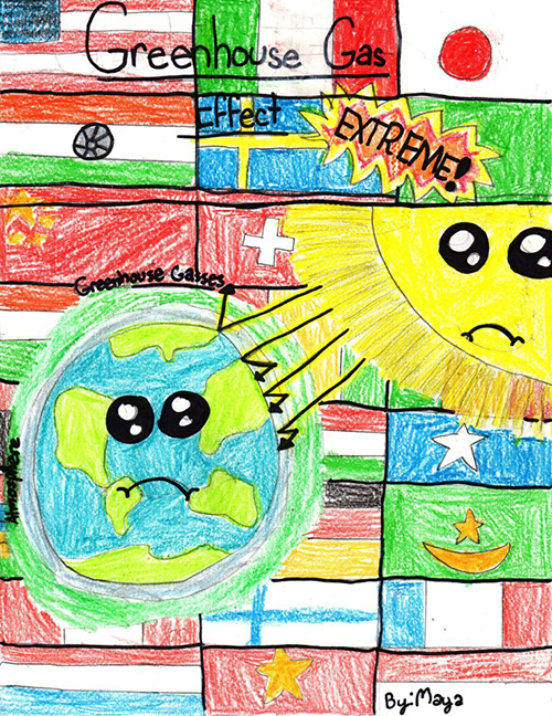 Artwork on the website Kids Against Climate Change