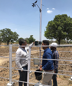 SkyMet founder Jatin Singh and weather station