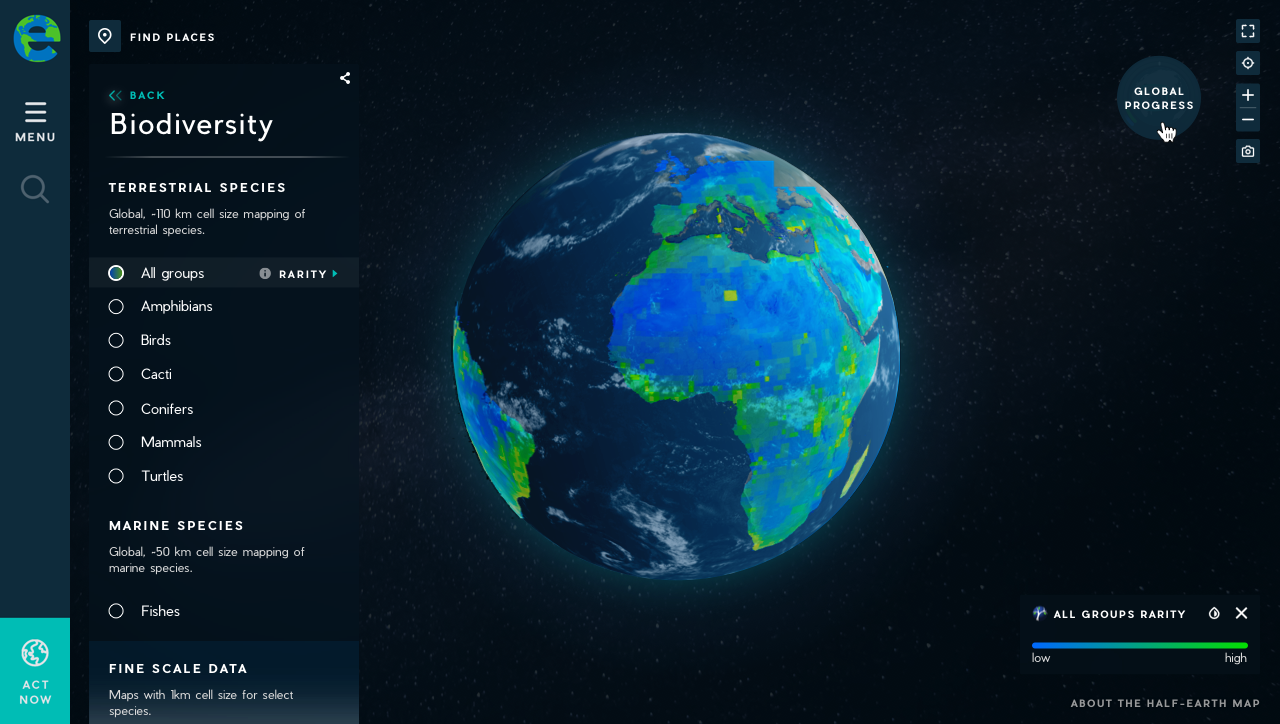 This interactive map shows how diverse life on Earth is — and how we can keep it that way