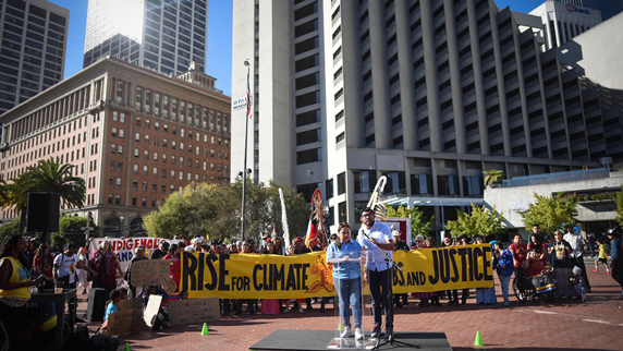 Juan Flores 'Rise for Climate, Jobs, and Justice' march