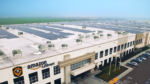 Amazon factory and carpark