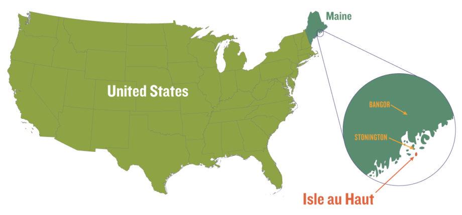 Isle au Haut location map