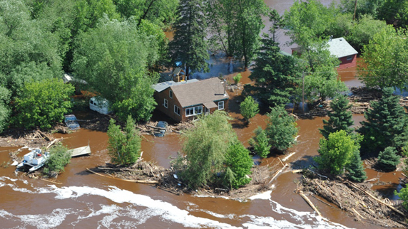 Duluth area flooding June 2012