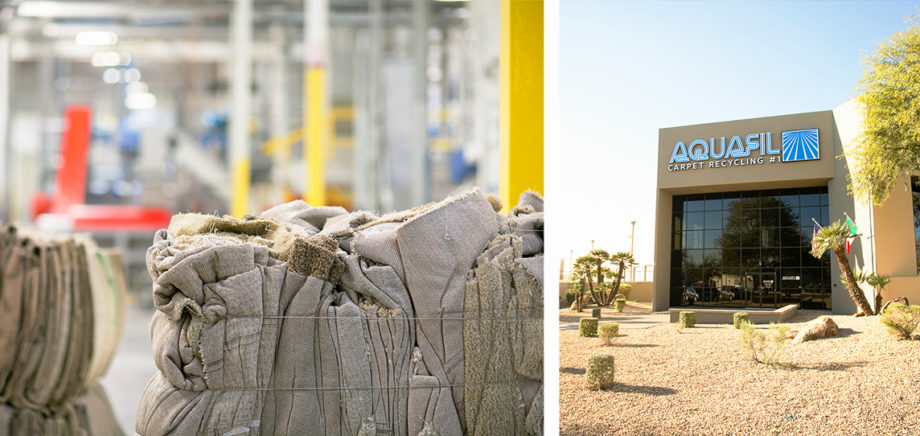 Aquafil carpet plastic chemical recycling facility