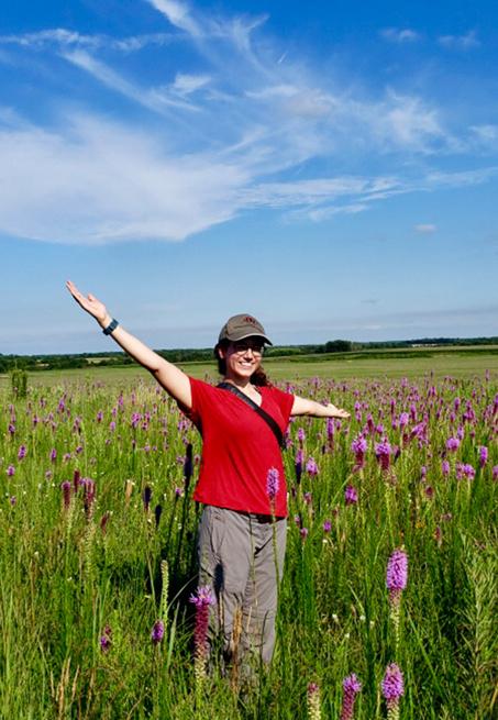 Kayla Garcia in field