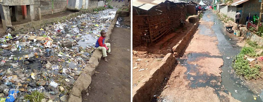 Trash in Kibera can lead to dangerous conditions