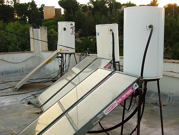 rooftop solar water heater in Israel.