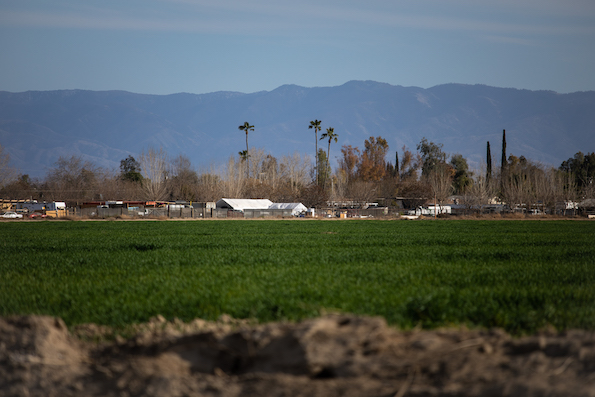 View of a farm in the agricultural community of El Adobe, California.