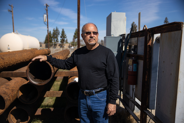 Miguel Sanchez, member of the board of directors of the Lamont PUD at Well #13.