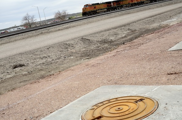 A well and train in Gallup