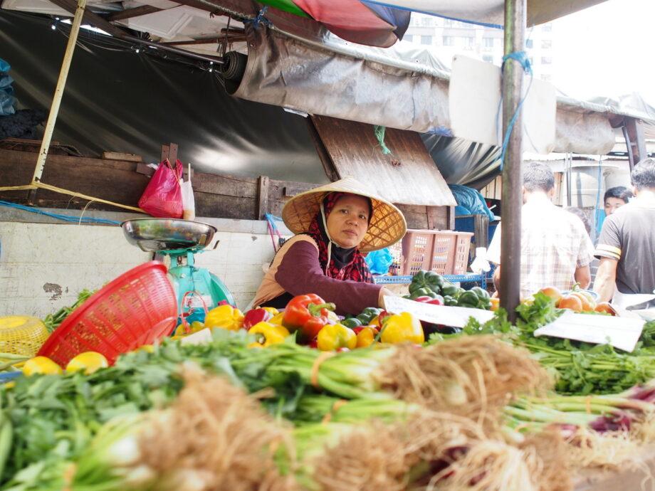 Vegetable Vendor Pudu Wet Market